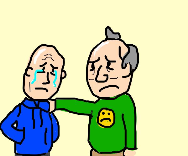 2 depressed cartoon characters