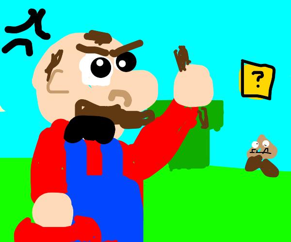 Alopecia Mario is angry