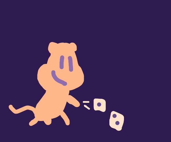 monkey rolling dice