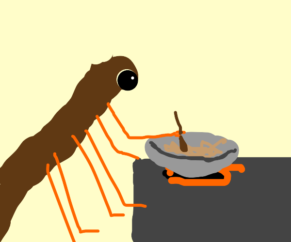 Scolipede makes fried rice