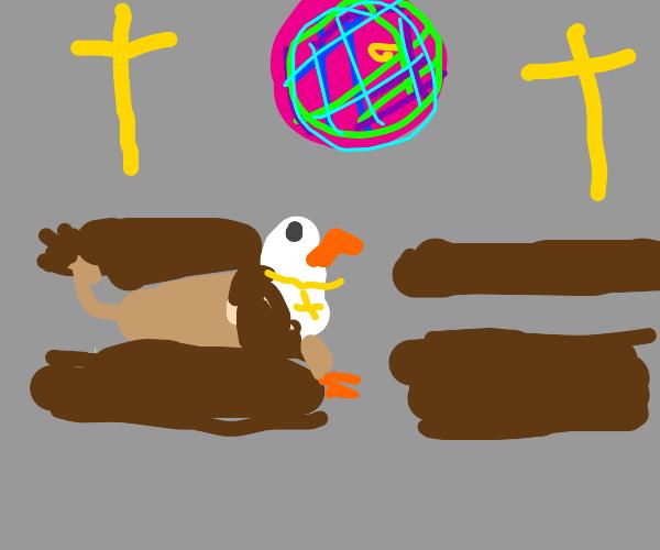 Griffins in church