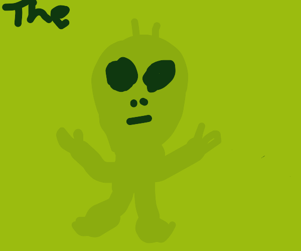 The green alien