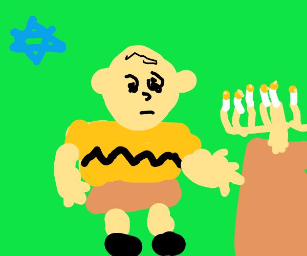 Charlie Brown celebrates Hanukkah