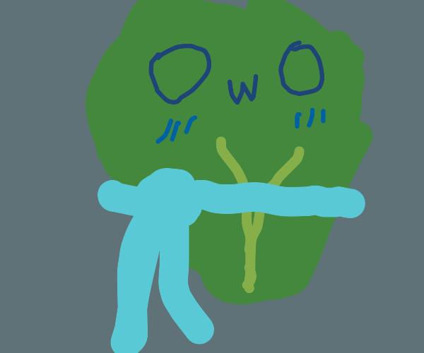 A cute owo lettuce man with a scarf