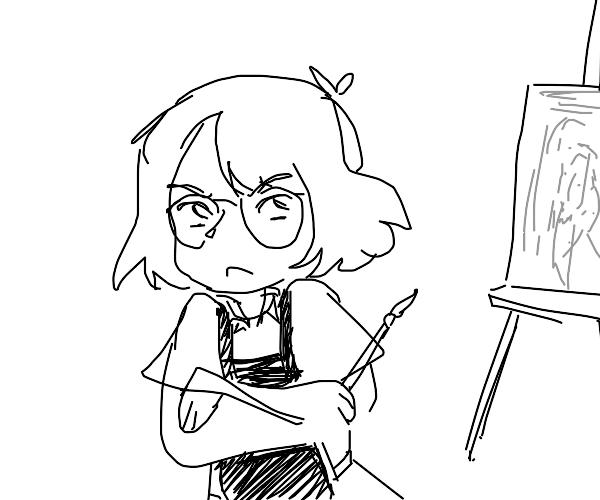 Angry artist