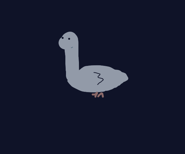 Sad beakless duck