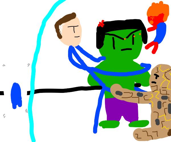 The Fantastic Four Vs. The Hulk