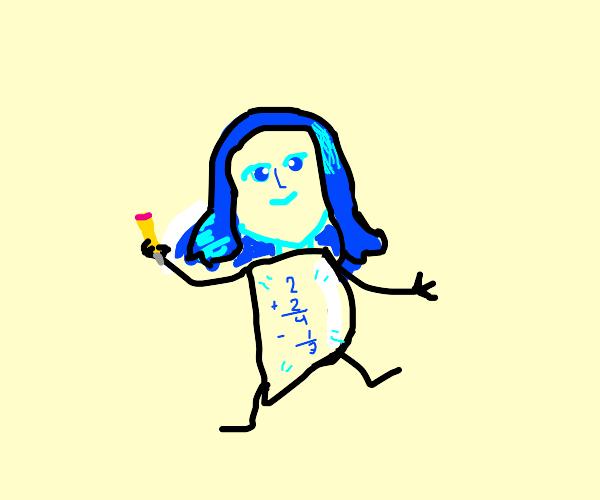 Drawception D Gijinka with a math shirt