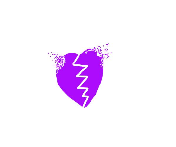 Broken purple heart