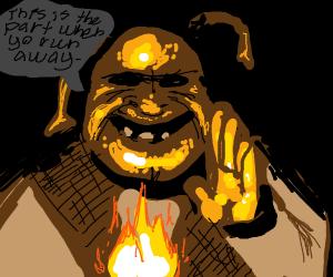 terrifying shrek telling you to RUN