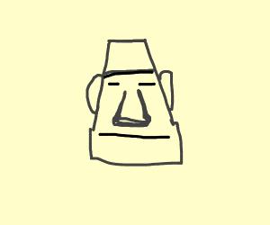 the easter island head emoji but hot - Drawception