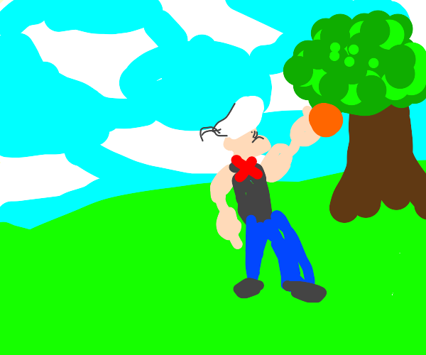 Popeye collecting Grapefruit