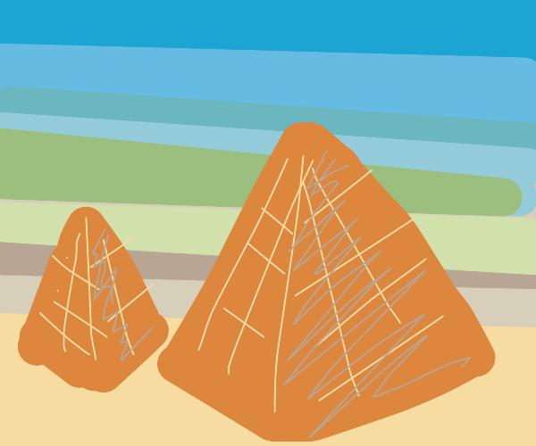 Sun set over the pyramids