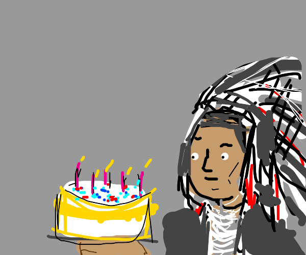 Chief presents cake