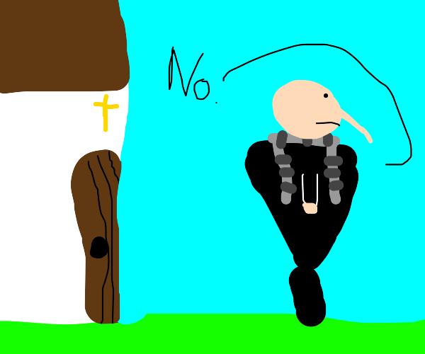 Gru won't go to church