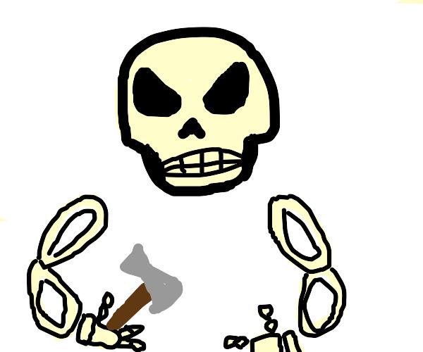 Giant skeleton monster with axe