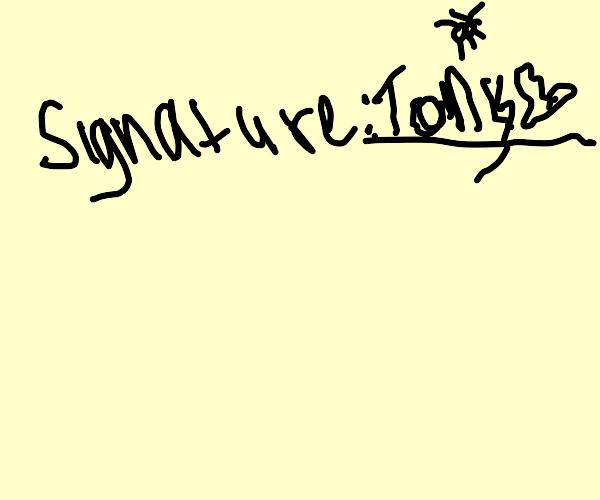 child's signature