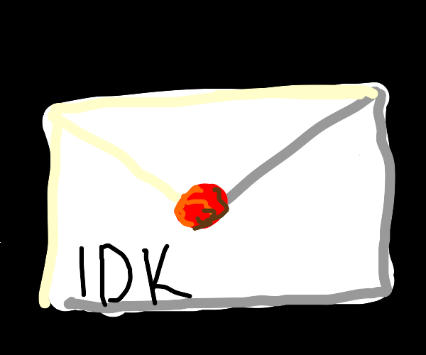 Letter with a red seal that have l D K on it