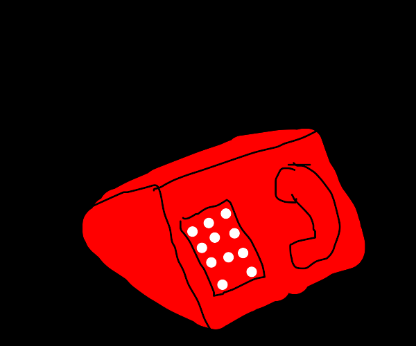 Old fashioned telephone (red)