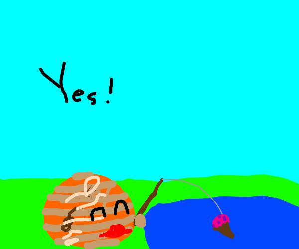jupiter fishing for an icecream cone