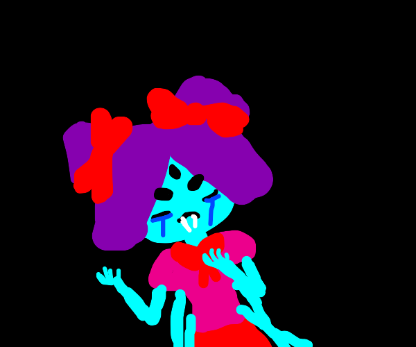 muffet from undertale crying