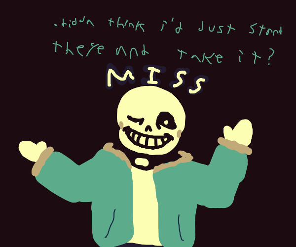 Attempting to attack sans
