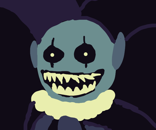jevil (deltarune) tries to scare you