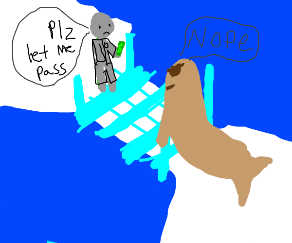Scientist couldn't cross Iceberg cuz Walrus