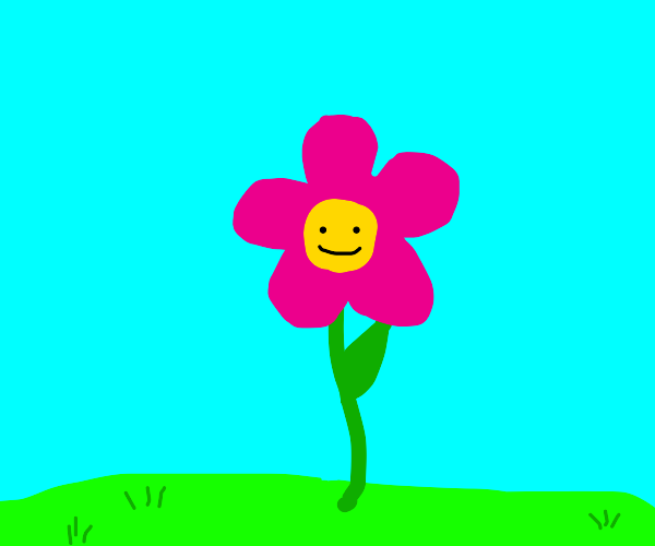 smily pink flower