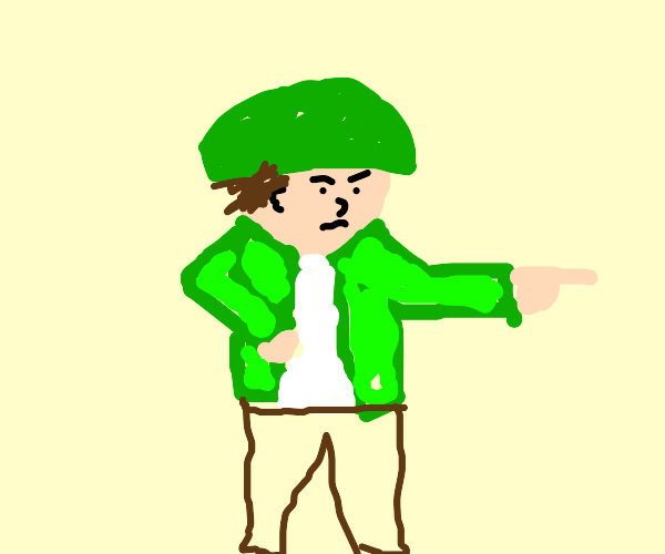 Soldier pointing at you
