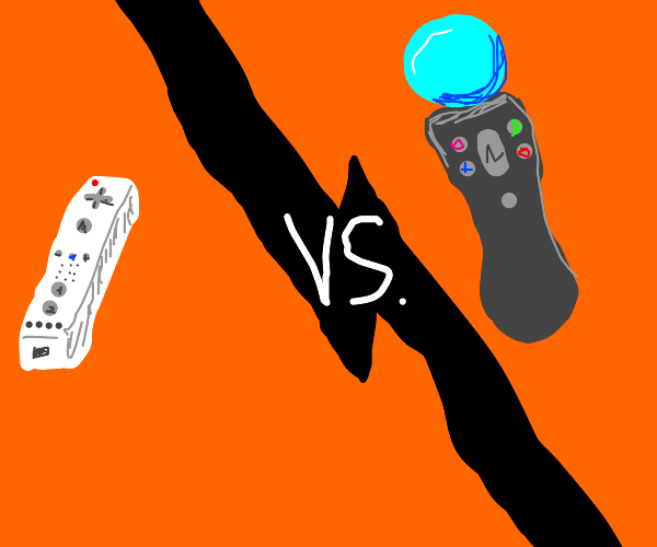 wiimote & sony vr stick fight for some reason