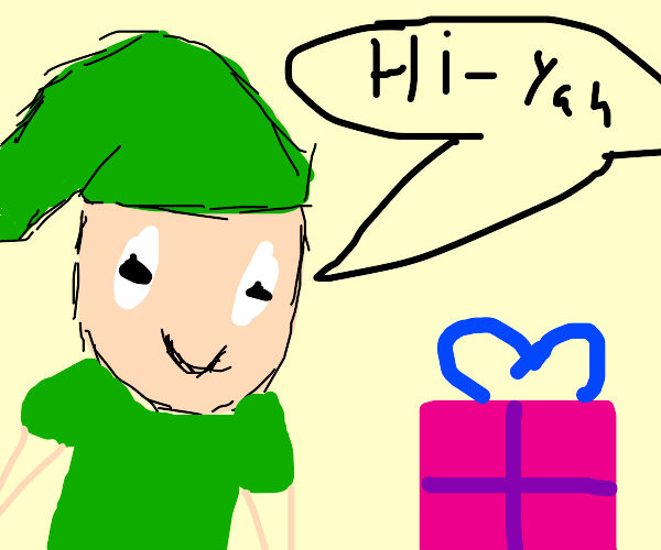 Link gets his Christmas present
