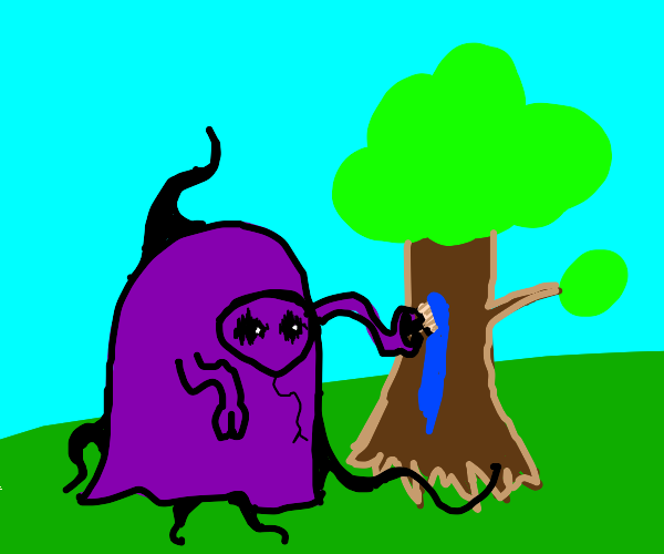 nasty thing paints tree