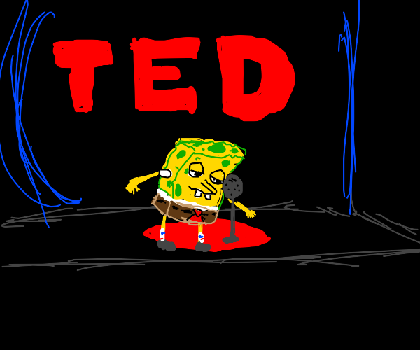 SpongeBob giving TED talk