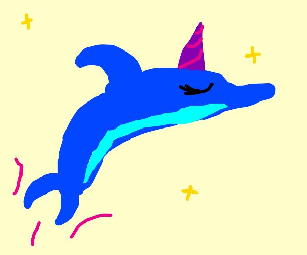 A majestic unicorn/Dolphin