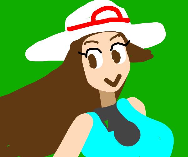 A female Pokemon trainer.