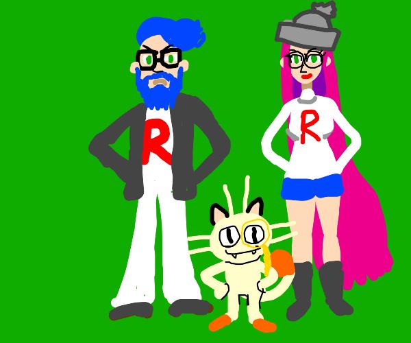 Hipster team rocket