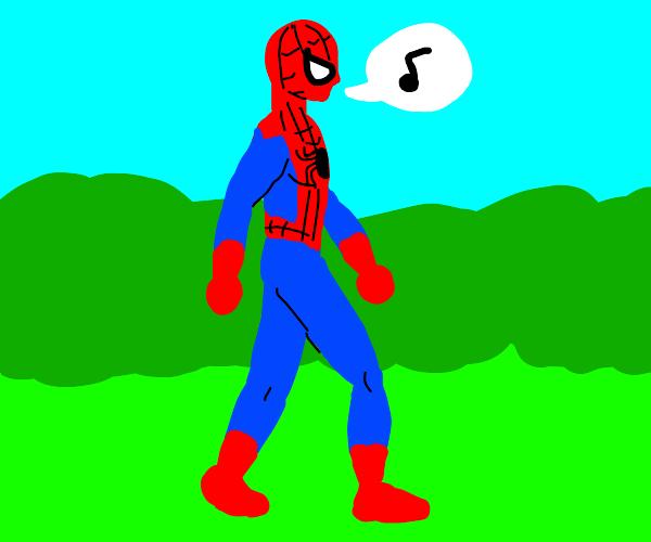 Spiderman takes a stroll