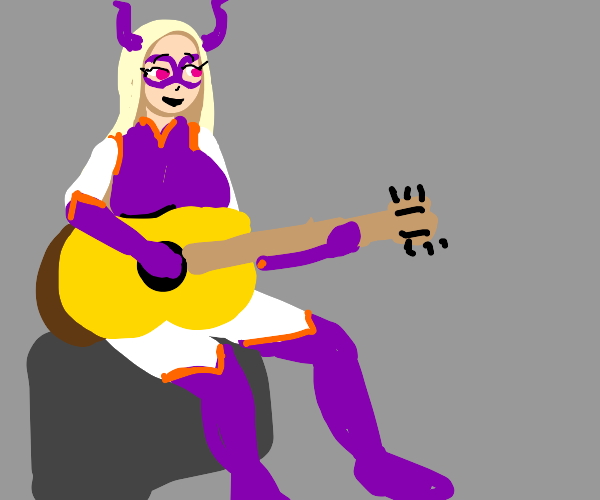 mt lady plays guitar