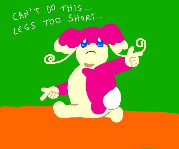 Audino Doing the Sonic Adventure Pose