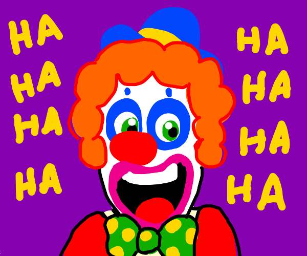 Clown laughing maniacally