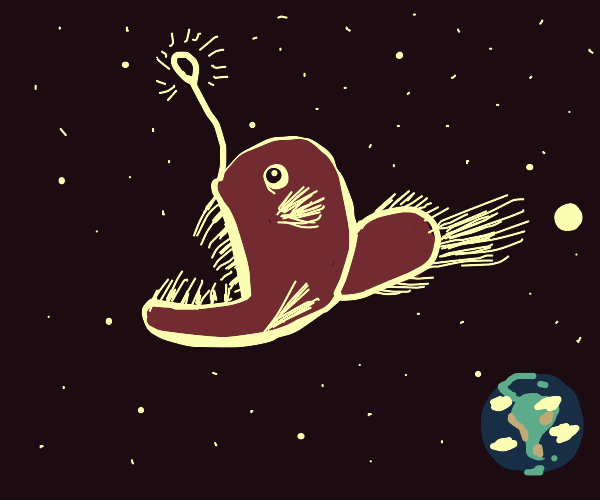 angler fish in space