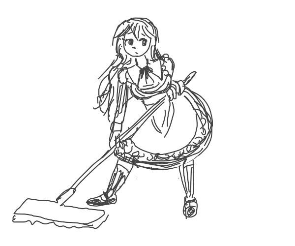 mopping maid