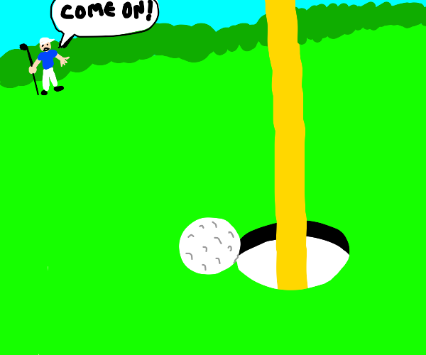 come on! it was so close! (golfball to hole)