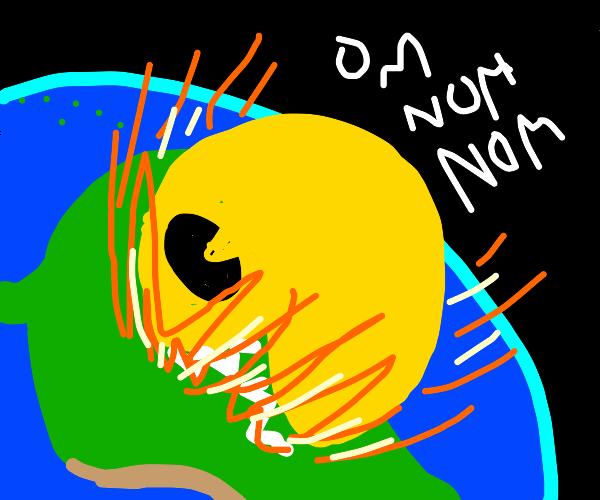 Pacman eats Brazil
