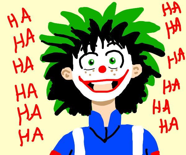 the joker as deku?