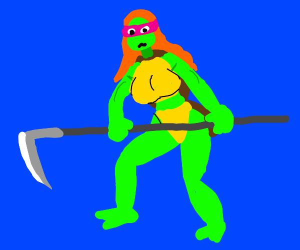 Ninja turtle but hot girl