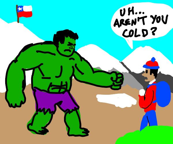 hulk in the andes