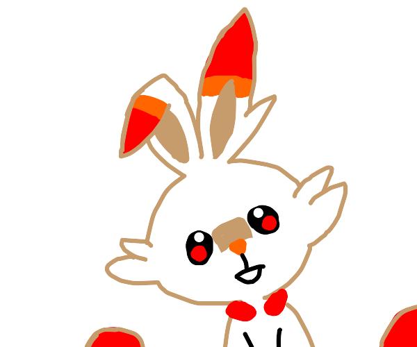 That fire rabbit Pokemon