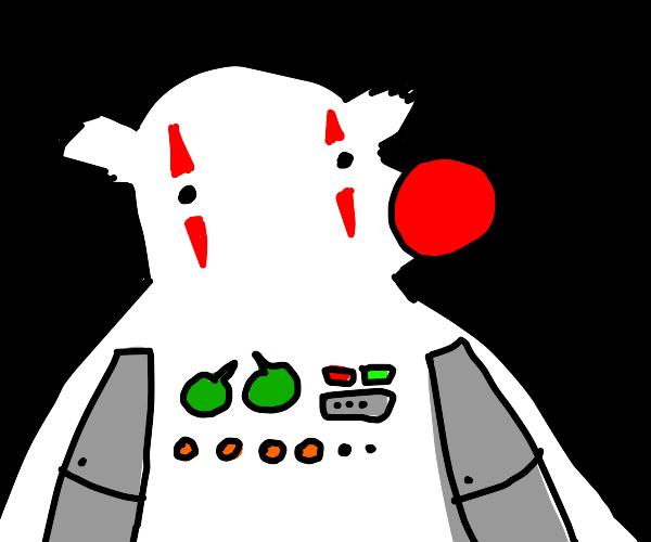 robot/clown/white-bear